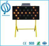 Señal de tráfico LED solares signo flecha
