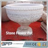 POT di fiore/vaso di pietra naturali smerigliatrice per la decorazione del giardino/progetto di paesaggio