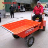 6.5HP газа или электрического заряда аккумулятора Mini колеса погрузчика в саду фермы Dumper