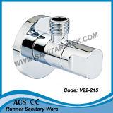 Soupape de cornière de luxe carrée de chrome (V22-201)