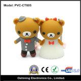 Sposare il disc istantaneo del USB del fumetto dell'orso (PVC-CT805-1/2)