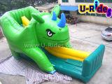 Rihino Inflável Bouncer com Slide para crianças