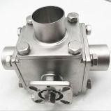 T-Typ Durchlauf-Kugelventil der Plattform-3