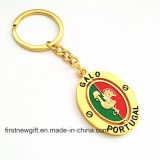 Hot Sale Cheap Print Logo Metal Keyring Promotion Gift (F1068)