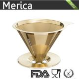 Acero inoxidable oro Paperless Coffee Dripper