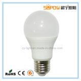 Chip COB bombillas LED de alta calidad 3W 5W 7W 9W 12W E27 B22 LED Bombilla LED de aluminio de plástico
