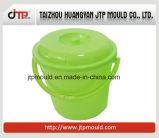 Muffa rotonda di plastica della benna della vernice con il coperchio
