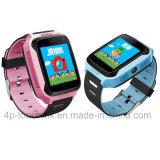 사진기와 플래쉬 등 (D26C)를 가진 아이 GPS 추적자 시계