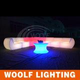 Sofá colorido del sofá del LED / muebles al aire libre Sofá plástico del LED / sofá del LED al aire libre