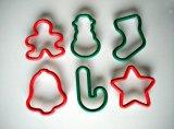 Surtido de plástico de Navidad cortadores de la galleta (PM097)