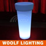 De plastic LEIDENE Lichte Pot van de Bloem voor Infoor en OpenluchtGebruik