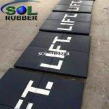De speciale Tegel van de Vloer van de Gymnastiek van het Embleem van het Ontwerp Commerciële Rubber