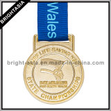 Alta qualità Metal Sports Medal con Gold Finished (BYH-10842)