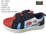 Черный PU красного цвета ягнится ботинки конька
