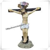 Statue cattoliche, Figurines del Joseph del san della st, statua religiosa della resina (IO-ca048)