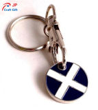 Kundenspezifische Querzink-Legierung Keychain für Verkauf