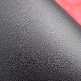 Couro artificial gravado do plutônio do Litchi grão grande para a sapata dos esportes