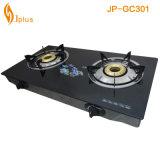 Bruciatore a gas di Temperedglass Jp-Gcd058 del rifornimento doppio