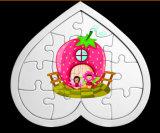 Puzzle di carta dei bambini di figura del cuore
