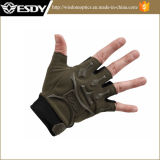 軍隊の緑のChepaer Fingerless Airsoftの手袋