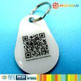 Tag do PVC NTAG216 NFC da impressão RFID de QRcode do progaramme do sistema da lealdade
