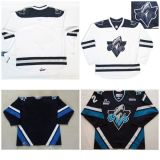 Настроить Qmjhl Rimouski океанических мужская дети женщин черно-белый хоккей дешевые футболках Nikeid Goalit вырезать футболках nikeid высшего качества новых