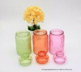 Colouful 500ml Süßigkeit-Glasglas mit Glaskappe