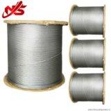 Norme galvanisée de la corde 7X7 ASTM de fil d'acier de câble d'avions