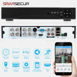 Videorecorder 960 van kabeltelevisie DVR/NVR/HVR van Ahd van Smarsecur 8CH 720p het Registreertoestel van de Veiligheid van kabeltelevisie van het Huis van het h. p. 2p/H. 264 8 CH Systeem