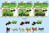 1: 64 Equipe de Exploração de metal fundido Playset Trator caminhão de reboque brinquedos para crianças