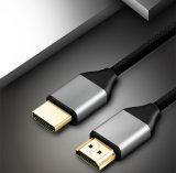 Nylon tressé Câble HDMI 2.0 avec connecteur en métal Ce approuvé
