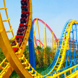 Fabricante de Zhongshan grandes paseos pesado Anillo de seis de la emoción de fantásticas atracciones personalizadas Roller Coaster con luz LED