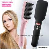 2 en 1 enderezadora del pelo del cepillo (YS-6656-C)