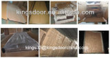 Puerta de madera del solo dormitorio económico de la fábrica