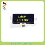 解像度128X64の黄色いカラーの2.4インチOLED