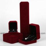 Caja de joyería de lujo de Hanndmade Velet Caja al por mayor de la joyería
