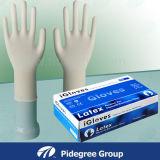 I guanti liberi del lattice della polvere comerciano il lattice all'ingrosso dei guanti del lavoro