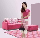 Софа ткани домашней мебели полезная Cum кровать