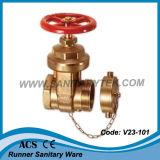 Valvola d'ottone dell'idrante di atterraggio del fuoco (V23-603)