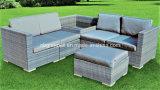 4PCS Wicker/Jardim de vime Sofá Mobiliário de exterior