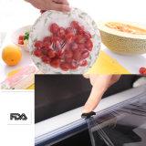 Il multi silicone del coperchio dell'alimento di formato di vendita calda aderisce pellicola per l'involucro dell'alimento su rullo