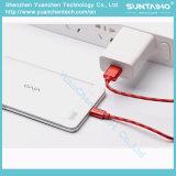 Cable trenzado de nylon de la carga y de datos para el teléfono de Samsung