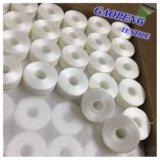 100% polyester blanc pour la couture de Thread Bobbins Pre-Wound