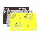 Placemat en polyester de saison de 3 mm et 5 mm pour tableaux et décorations de vacances