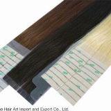 Extensión humana del pelo de Remy de la PU de la buena calidad de la cinta invisible de la piel