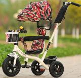 Conduite de tricycle de Trike d'enfants de gosses sur la taqueuse Car&#160 de poussette de landau de bébé de jouet ;
