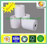 Impresión compatible y 1 lateral revestimiento del lado del papel térmico rollos jumbo