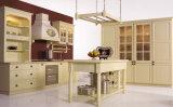 普及した中国の旧式な純木の食器棚のモジュラーサイズの純木の食器棚