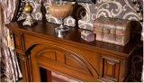Mensola del camino di legno del camino del salone europeo del Home Depot da vendere (GSP14-003)