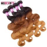 Cheveu brésilien d'armure d'Ombre des prix de Vierge de prolonge bon marché de cheveux humains